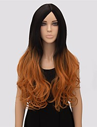 Women Long Body Wave Multi-color Top Quality Synthetic Wig