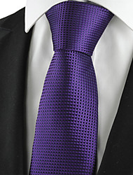 KissTies Men's Plaid Checked Classic Tie Suit Necktie Wedding Party Holiday Business With Gift Box (3 Colors Available)