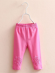 Toddler Tight Kid Baby Lace Flower Sheer Cotton Pants Girl Stretchy Trousers Leggings