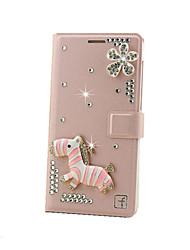Для Кейс для Huawei / P8 / P8 Lite Кошелек / Бумажник для карт / Защита от удара / Стразы Кейс для Чехол Кейс для 3D в мультяшном стиле