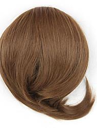 peruca marrom contrato cordão 5 cm de comprimento cor sintética crespo encaracolado alta temperatura 7027