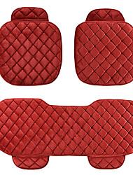 ajuste universal para o carro, caminhão, suv, ou van têxtil carro almofada do assento 3 peças vermelho