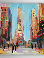 Hand Painted Oil Painting Landscape City Street View II with Stretched Frame 7 Wall Arts®