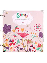 DIY 29 * 29 cm 30pcs álbuns de 16 polegadas artesanal recados papel fotográfico preto - flor para a família / baby / amantes / presentes /