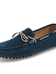 Для мужчин Топ-сайдеры Мокасины Наппа Leather Весна Лето Осень Повседневные Для праздника Мокасины Темно-синий Темно-коричневый2,5 - 4,5
