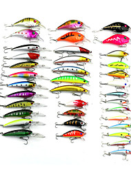 1set=37pcs pcs Harte Fischköder / kleiner Fisch / Kurbel Braun / Zufällige Farben 8g 10.2g 8.5g 3.6g 2.1g g/3/8 / 1/10 / 1/8 / 5/16 Unze,