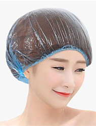 Shower Cap Plastics Foldable Disposable Hat Hotel One-Off Elastic