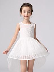 Girl's Print Dress,Polyester Summer Pink / White / Yellow
