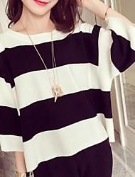 Damen Pullover - Street Schick Wolle Mittel ¾-Arm