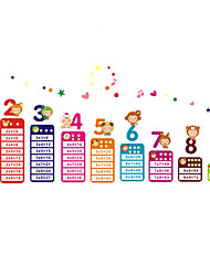 Cartoon Kids Multiplication Table Wall Stickers Kindergarten Children Wall Art Fashion Wall Decals