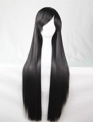 europe et les etats-unis la nouvelle perruque de couleur à long 80 cm de large perruque de cheveux raides noir
