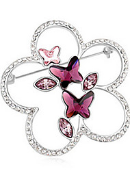 High Quality Crystal Butterfly Brooch for Wedding Party Lady