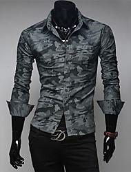 T-Shirt Mens 2016 Men's Fashion Color Printing Shirt Long Sleeve T Shirt Men Slim Men Sports Tshirt