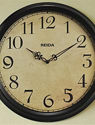 Redonda Moderno/Contemporâneo Relógio de parede,Outros Madeira 35.5*35.5*6.5