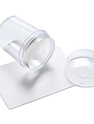 новые маникюр уплотнения прозрачные силиконовые уплотнения с крышкой + коротким лезвием
