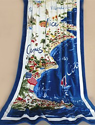 "Fashion Patterned Full Cotton Beach Towel 70.8"" by 41.3"""