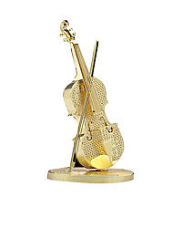 3D Puzzles / Metal Puzzles For Gift  Building Blocks Model & Building Toy Violin Metal Above 14 Gold Toys