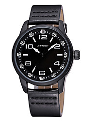 SINOBI ® Men's Casual Sport Watch for Boys Fashion Hour/Minute/Second Display PU Leather Band Quartz Watches Wrist Watch Cool Watch Unique Watch