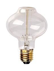 e27 AC220-240V 40w Seide Kohlefaden-Glühlampen l80 um Perle