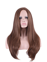 Popular Cosplay Black/Brown Color Long Straight Synthetic Hair