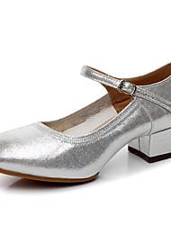 Zapatos de baile(Plata / Oro) -Moderno-Personalizables-Tacón Cuadrado