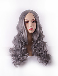 Best-selling Europe And The United States Long Curly Wig Points in Grey Hair Wigs