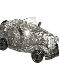 ABS 3D DIY Classic Cars Crystal Puzzle Animal Educational Toys For Kids Or Adults Grey/Yellow