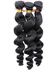 Loose Wave Human Hair Weaves Mongolian Texture 100 8 10 12 14 16 18 20 22 24 26 28 30 Human Hair Extensions