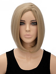 Fashion Natural Middle Blonde Color Straight Wigs Synthetic Wig