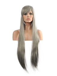 Cosplay Wig  Long Straight Sliver Hair Synthetic Wig.