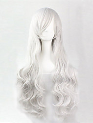 Europe And The United States The New Color Long Curly Wig 80 CM High Temperature Wire Silver Hair Wigs