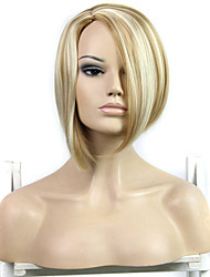 Long Bob Synthetic Hair Wigs Middle Part Wigs Fashion Lady Women's Synthetic Straight Hair Wigs