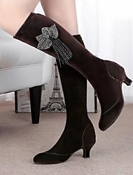Sapatos de Dança(Preto / Marrom) -Feminino-Não Personalizável-Latina