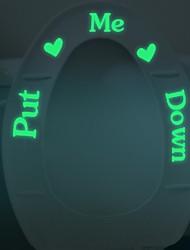 """Put Me Down Toilet Seat Sticker Decal Luminous Stickers Decorative Toilet Seat Cover Sticker Bathroom Stickers"""
