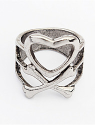 Punk Fashion Love Cross Ring