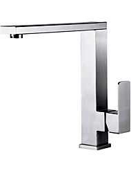 PHASAT Deck Mounted Single Handle One Hole Stainless Steel Kitchen Faucet