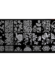 BlueZOO Rectangle Forest Garden Nail Art Stamping (BC-11)
