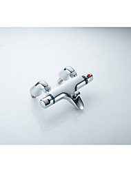 Thermostatic Bathroom Bathtub Shower Faucet Mix Water Valve with Copper