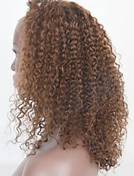 20-24inch perruques de cheveux humains Kinky dentelle boucle perruques de cheveux avant