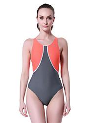 Femme Elastique Compression Elasthanne Tactel Tenue de plongée Maillots de Bain-Natation Plongée Eté Classique