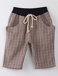 Girl's Polka Dot Pants,Cotton Summer Brown