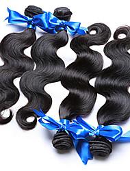 Menschenhaar spinnt Brasilianisches Haar Große Wellen 18 Monate 4 Stück Haar webt