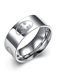 lureme® Stainless Steel 0.8mm Wide Batman Symbol Ring