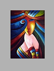 Hand-painted Abstract African women Oil Painting Home Hotel Decor with Stretched Frame