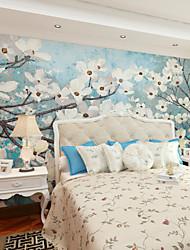 Mural Floral Papel de parede Regional Revestimento de paredes,Tela Sim
