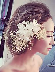 Femme Tissu Casque-Mariage Occasion spéciale Extérieur Fleurs 1 Pièce