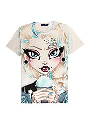 3D T-shirt Punk Girl Print Cosplay Costumes T-shirt Geeky Clothing Round Neck Short Sleeves For Male/Female