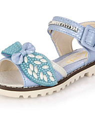 Girl's Sandals Summer Gladiator Leatherette Outdoor Casual Flat Heel Applique Magic Tape Blue Pink Purple