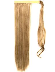 золотой 60см синтетическая высокая температура проволоки парик прямые волосы конский хвост цвет 27а / 613