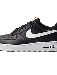 Nike Air Force 1 Round Toe / Sneakers / Casual Shoes / Skateboarding Shoes / Running Shoes Men's Wearproof Low-Top BlackRunning/Jogging /